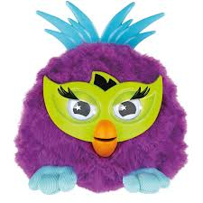 Furby boom with box and instructions and purple fussby furby party.